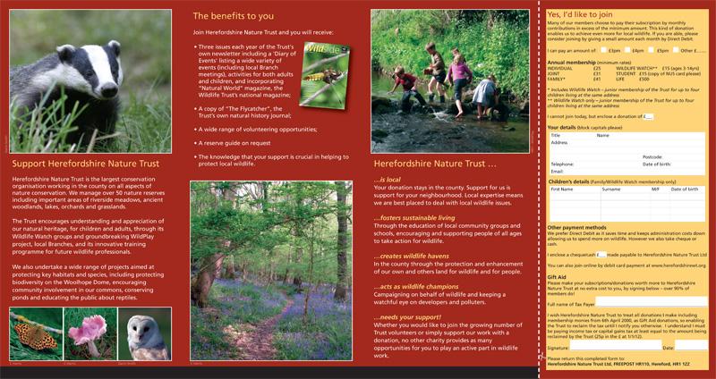 HNT membership leaflet (inside)