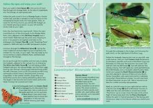 Leominster Riverside Walk leaflet