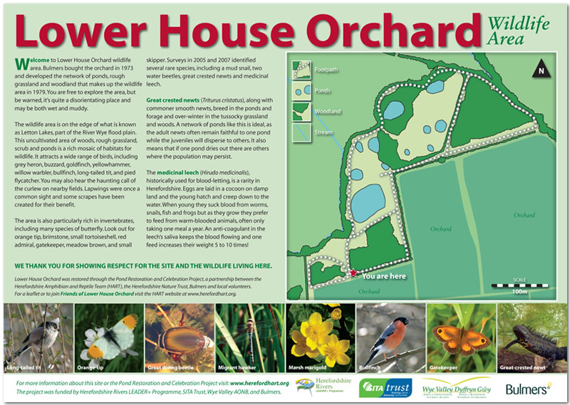 Lower House Orchard interpretation panel