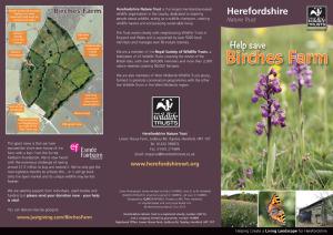 Birches Farm appeal leaflet (outside)