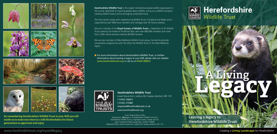 A Living Legacy leaflet (outside)