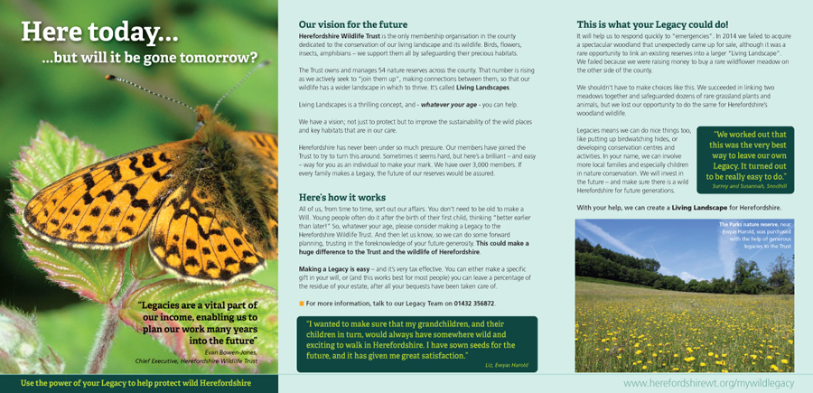 A Living Legacy leaflet (inside)